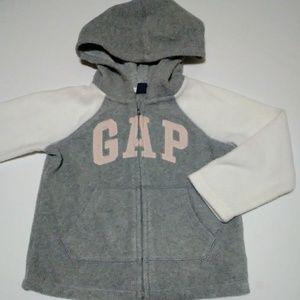 Gap Fleece Hoodie Sweatshirt Logo Zip Up
